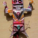 kachina man bolo or pin ornament By Richard Lazzara