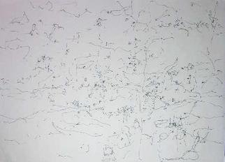 Richard Lazzara: 'know intellectually', 1974 Calligraphy, Visionary. KNOW INTELLECTUALLY, from the folio MINDSCAPES is available at