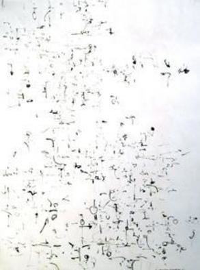 Artist: Richard Lazzara - Title: kumaras - Medium: Calligraphy - Year: 1974