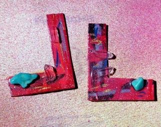 Richard Lazzara Artwork l for lazzara ear ornaments, 1989 Mixed Media Sculpture, Fashion
