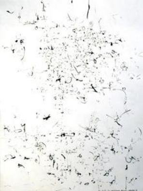 Artist: Richard Lazzara - Title: landscape before harvest - Medium: Calligraphy - Year: 1974