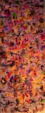 Artist: Richard Lazzara - Title: leaf piles - Medium: Calligraphy - Year: 1976