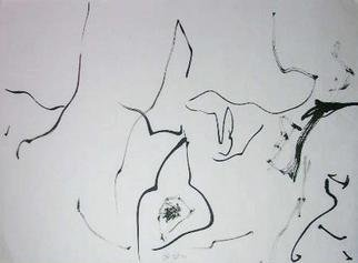 Richard Lazzara: 'lets contemplate', 1974 Calligraphy, Visionary. LETS CONTEMPLATE, from the folio MINDSCAPES is available at