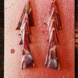 letter ear ornaments