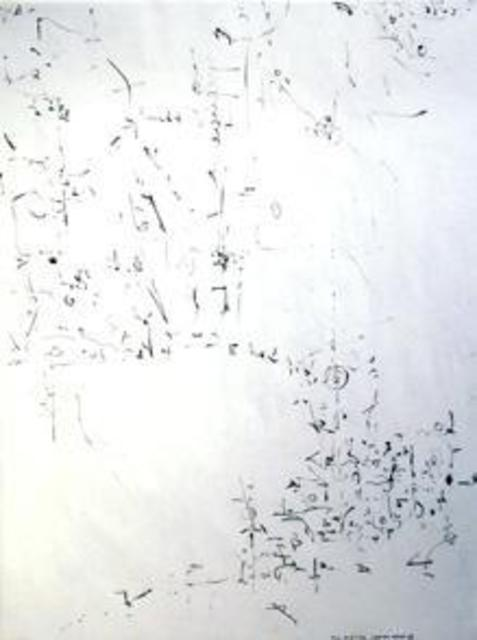 Richard Lazzara  'Loop Of Space', created in 1974, Original Pastel.
