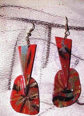 Richard Lazzara Artwork luminaria ear ornaments, 1989 Mixed Media Sculpture, Fashion