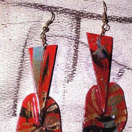 Richard Lazzara: 'luminaria ear ornaments', 1989 Mixed Media Sculpture, Fashion. Artist Description: luminaria ear ornaments from the folio LAZZARA ILLUMINATION DESIGN are available at