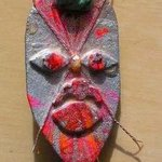 mask bolo or pin ornament By Richard Lazzara
