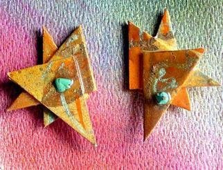 Richard Lazzara Artwork miami ear ornaments, 1989 Mixed Media Sculpture, Fashion