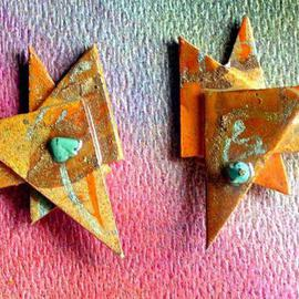 Richard Lazzara: 'miami ear ornaments', 1989 Mixed Media Sculpture, Fashion. Artist Description: miami ear ornaments from the folio LAZZARA ILLUMINATION DESIGN are available at