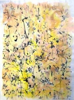 Artist: Richard Lazzara - Title: middle light - Medium: Calligraphy - Year: 1974
