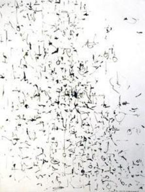 Artist: Richard Lazzara - Title: mirror gone - Medium: Calligraphy - Year: 1974