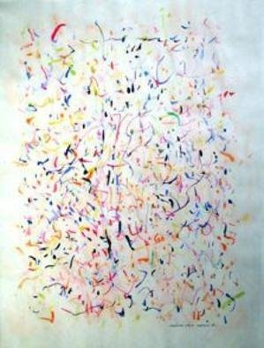 Artist: Richard Lazzara - Title: missing calin - Medium: Calligraphy - Year: 1974