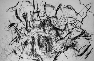 Artist: Richard Lazzara - Title: model into pure forms - Medium: Charcoal Drawing - Year: 1972