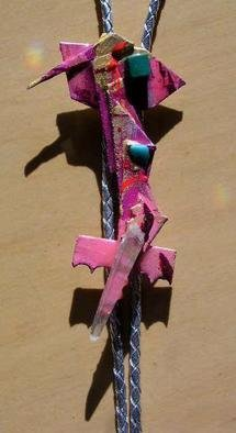 Richard Lazzara Artwork momento bolo or pin ornament, 1989 Mixed Media Sculpture, Fashion