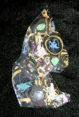Richard Lazzara: 'moon glow skys pin ornament', 1989 Mixed Media Sculpture, Fashion. Artist Description: moon glow skys pin ornament from the folio LAZZARA ILLUMINATION DESIGN is available at