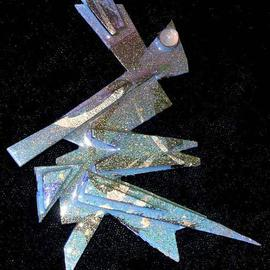 Richard Lazzara: 'moonstone eye pin ornament', 1989 Mixed Media Sculpture, Fashion. Artist Description: moonstone eye pin ornament from the folio LAZZARA ILLUMINATION DESIGN is available at