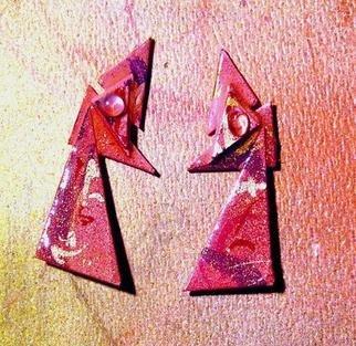 Richard Lazzara Artwork moonstone in fashion ear ornaments, 1989 Mixed Media Sculpture, Fashion