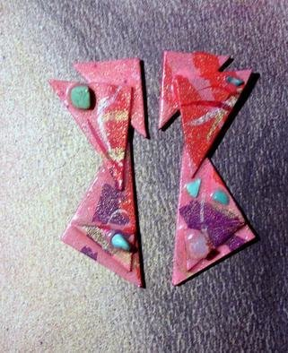 Richard Lazzara Artwork more about triangles ear ornaments, 1989 Mixed Media Sculpture, Fashion