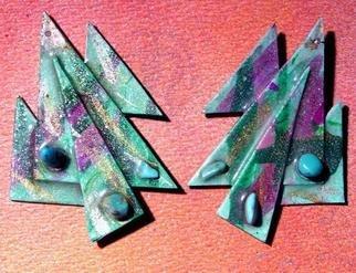 Richard Lazzara Artwork moss garden ear ornaments, 1989 Mixed Media Sculpture, Fashion