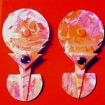mother pearl soul ear ornaments By Richard Lazzara
