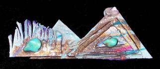 Richard Lazzara: 'mountain view pin ornament', 1989 Mixed Media Sculpture, Fashion. Artist Description: mountain view pin ornament from the folio LAZZARA ILLUMINATION DESIGN is available at