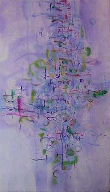 Richard Lazzara Artwork my mind obfuscates art, 1977 Calligraphy, Visionary