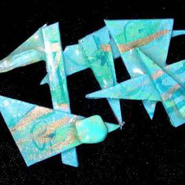 Richard Lazzara: 'ocean bay pin ornament', 1989 Mixed Media Sculpture, Fashion. Artist Description: ocean bay pin ornament from the folio LAZZARA ILLUMINATION DESIGN is available at