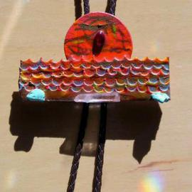 ocean sunset bolo or pin ornament  By Richard Lazzara