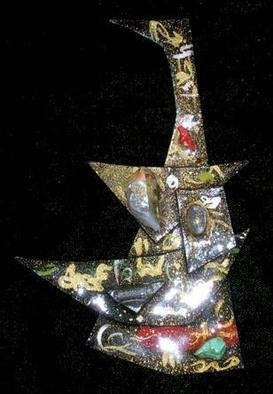 Richard Lazzara Artwork once on the high seas pin ornament, 1989 Mixed Media Sculpture, Fashion
