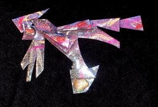 Richard Lazzara Artwork opal coral wing pin ornament, 1989 Mixed Media Sculpture, Fashion