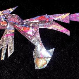 opal coral wing pin ornament