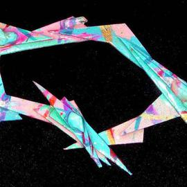 Richard Lazzara: 'open centre pin ornament', 1989 Mixed Media Sculpture, Fashion. Artist Description: open centre pin ornament from the folio LAZZARA ILLUMINATION DESIGN is available at