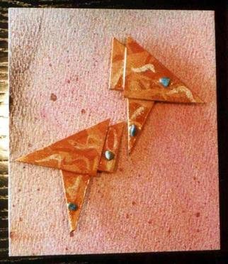 Richard Lazzara: 'orange peel ear ornaments', 1989 Mixed Media Sculpture, Fashion. Artist Description: orange peel ear ornaments from the folio LAZZARA ILLUMINATION DESIGN are available at