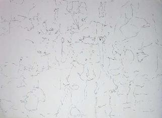 Richard Lazzara: 'outside means to', 1974 Calligraphy, Visionary. OUTSIDE MEANS TO, from the folio MINDSCAPES is available at