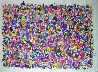 Richard Lazzara: 'people enthroned', 1974 Calligraphy, Visionary. PEOPLE ENTHRONED, from the folio MINDSCAPES is available at