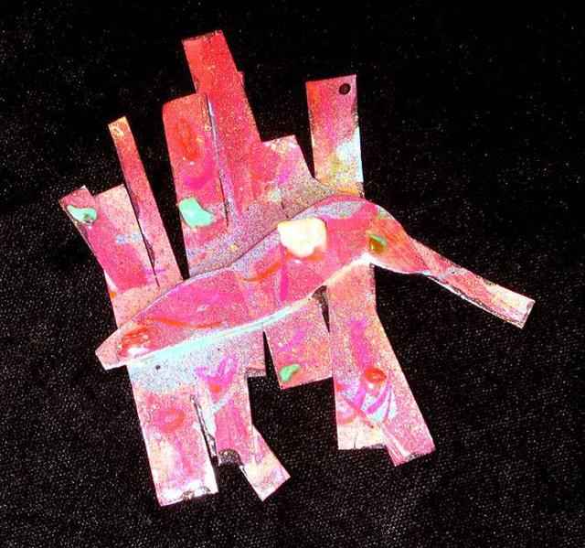 Richard Lazzara  'Pink Platypus Pin Ornament', created in 1989, Original Pastel.