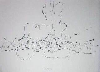Richard Lazzara: 'planting seeds', 1974 Calligraphy, Visionary. PLANTING SEEDS, from the folio MINDSCAPES is available at