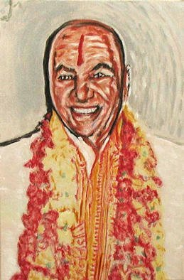 Richard Lazzara Artwork poonjaji, 1999 Acrylic Painting, Portrait