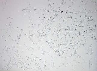 Richard Lazzara: 'potential expressed', 1974 Calligraphy, Visionary. POTENTIAL EXPRESSED, from the folio MINDSCAPES is available at