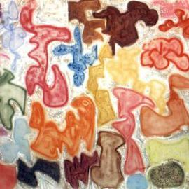 Richard Lazzara: 'puzzle story', 1991 Acrylic Painting, Culture. Artist Description: puzzle story by Richard Lazzara is found in the