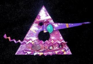 Richard Lazzara: 'pyramid pin ornament', 1989 Mixed Media Sculpture, Fashion. Artist Description: pyramid pin ornament from the folio LAZZARA ILLUMINATION DESIGN is available at