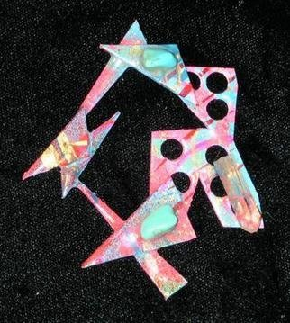 Richard Lazzara: 'rings of love pin ornament', 1989 Mixed Media Sculpture, Fashion. Artist Description: rings of love pin ornament from the folio LAZZARA ILLUMINATION DESIGN is available at