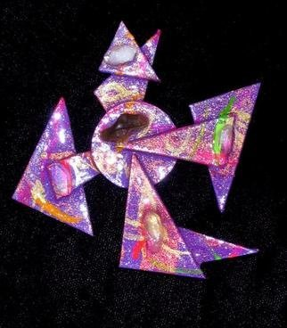 Richard Lazzara Artwork rotation pin ornament, 1989 Mixed Media Sculpture, Fashion