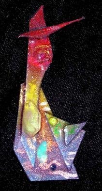 Richard Lazzara Artwork ruby eye pin ornament, 1989 Mixed Media Sculpture, Fashion