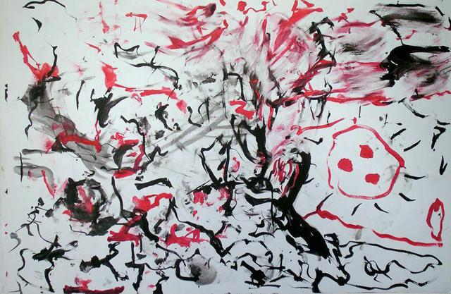 Richard Lazzara  'Screaming Primal Therapy Visual', created in 1972, Original Pastel.