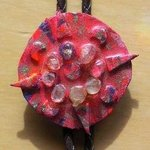 shield nesw bolo or pin ornament By Richard Lazzara