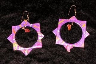 Richard Lazzara: 'silent center ear ornaments', 1989 Mixed Media Sculpture, Fashion. Artist Description: silent center ear ornaments from the folio LAZZARA ILLUMINATION DESIGN are available at