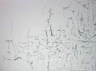 Richard Lazzara: 'simple gaze on', 1974 Calligraphy, Visionary. SIMPLE GAZE ON, from the folio MINDSCAPES is available at