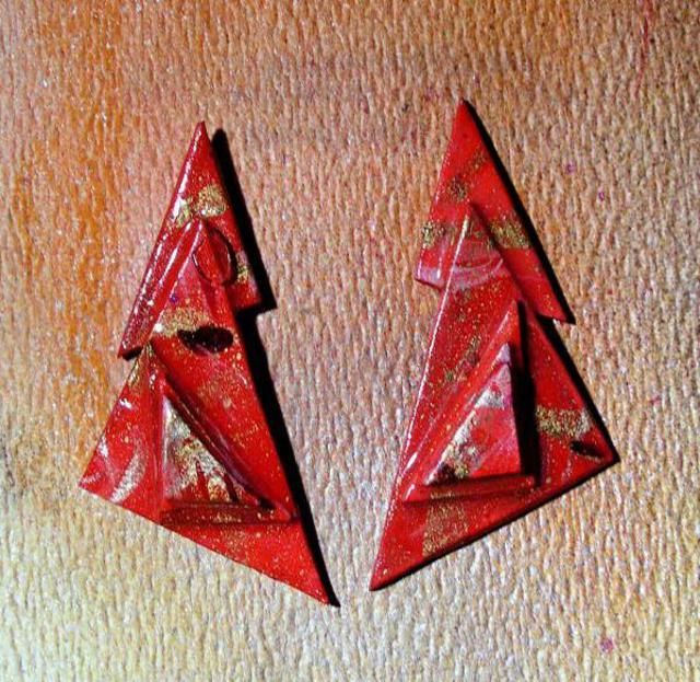 Richard Lazzara  'Simplicity Ear Ornaments', created in 1989, Original Pastel.